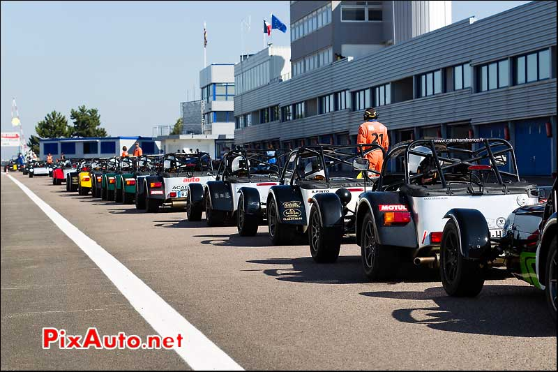 pit-lane entrée en piste course caterham france