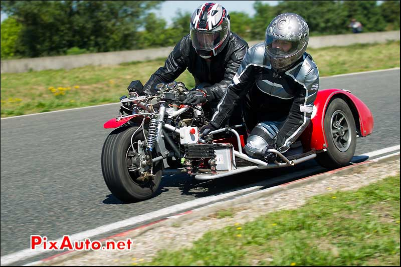 side-car ducati iron bikers circuit carole