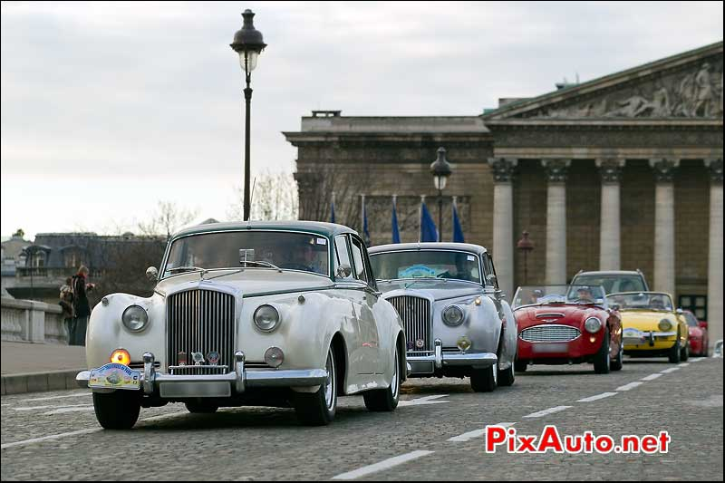 Bentley s-type continental traversee de paris