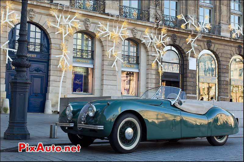 Jaguar XK 120 traversee de paris