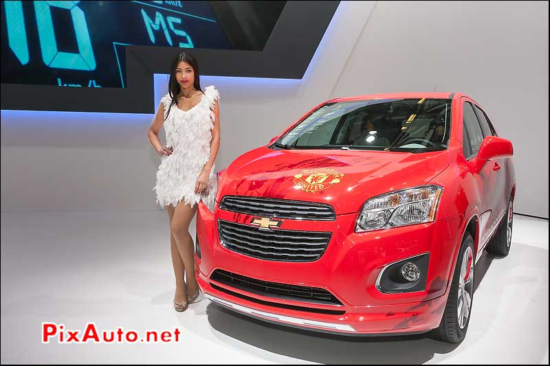 news chevrolet trax manchester united edition hotesse mondial automobile