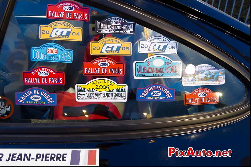 Stikers Rallyes voitures