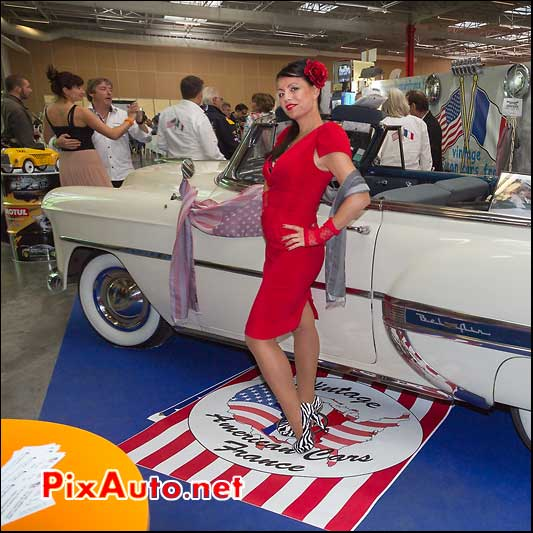 pin-up miss-you stand vintage americans cars france