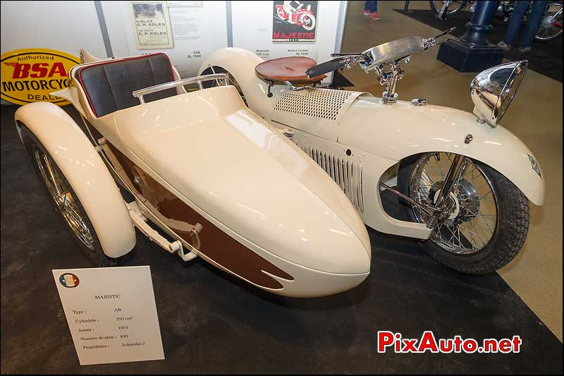 side-car Majestic AB de 1931 Salon Moto Legende