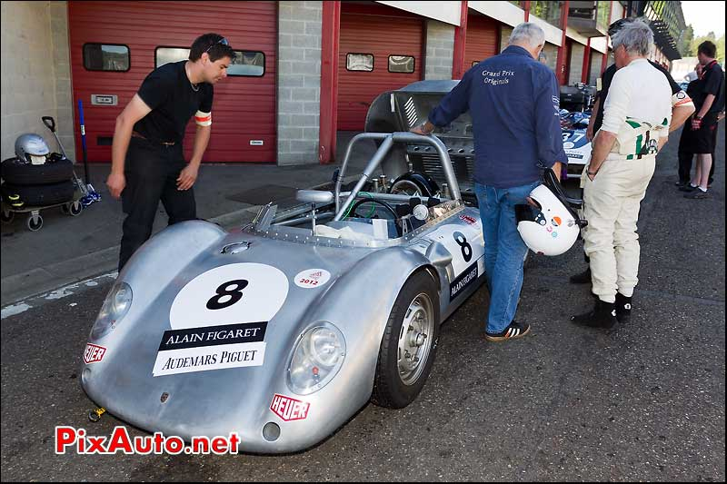 porsche 550a de 1959 stands spa-francorchamps