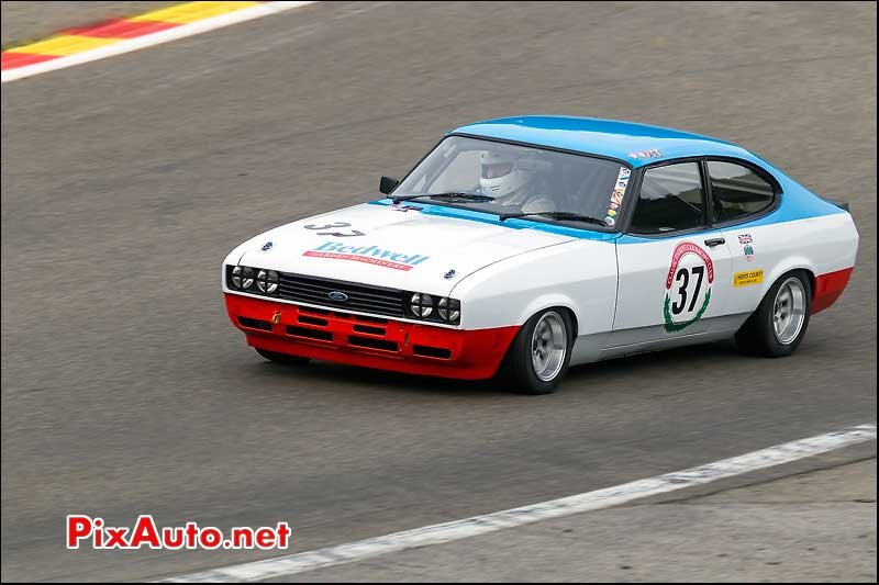 ford capri n37, circuit SPA-Francorchamps