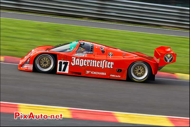 porsche 962c de 1989 raidillon eau rouge spa