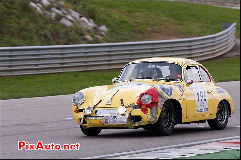porsche 356b accidentee sur circuit d