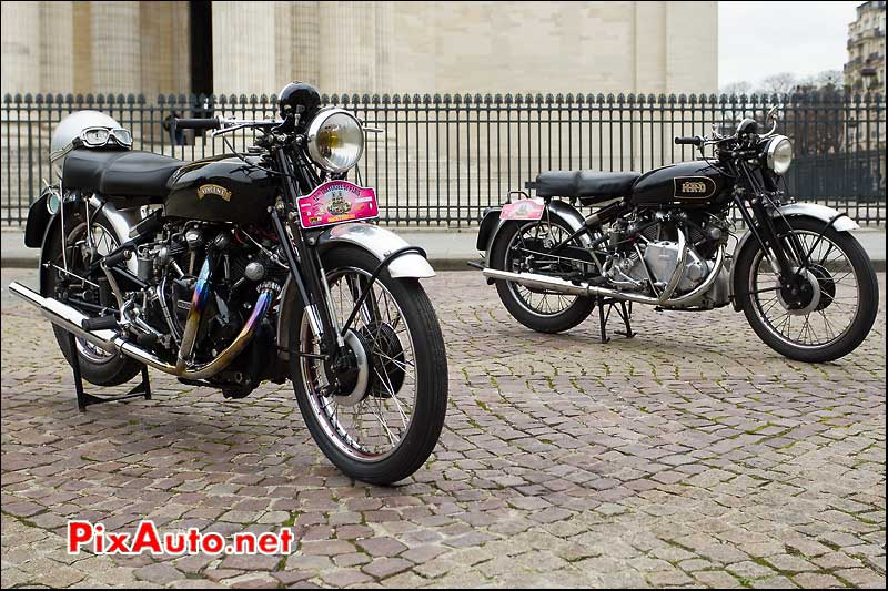 12e traversee de paris motos vincent hrd panthéons