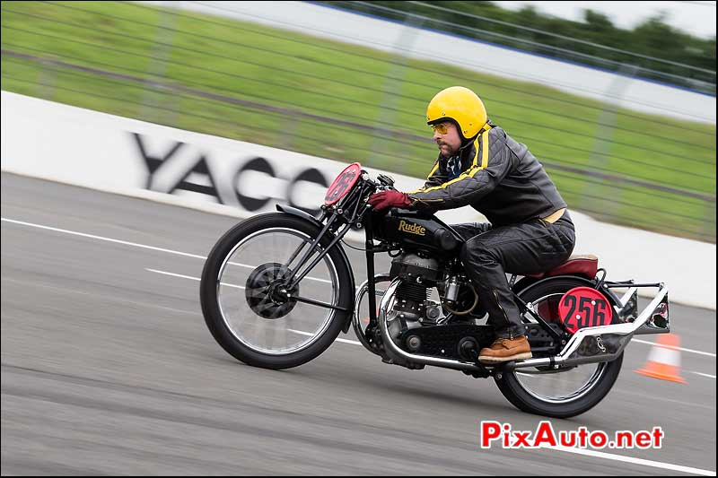 Sprint Vintage Rudge Motorcycle, cafe-racer-festival 2013, circuit Linas-Montlhery