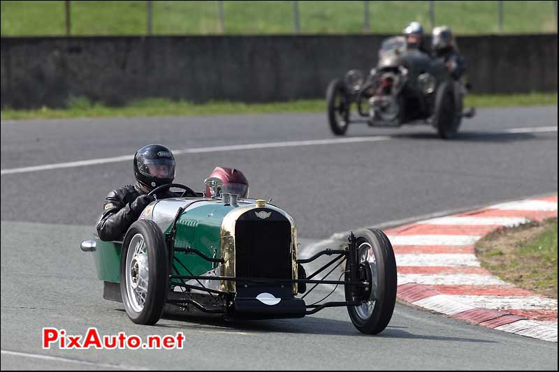 Tricycle Morgan SS, vintage revival montlhery 2013