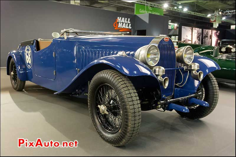 bugatti type 57, stand hall and hall, retromobile