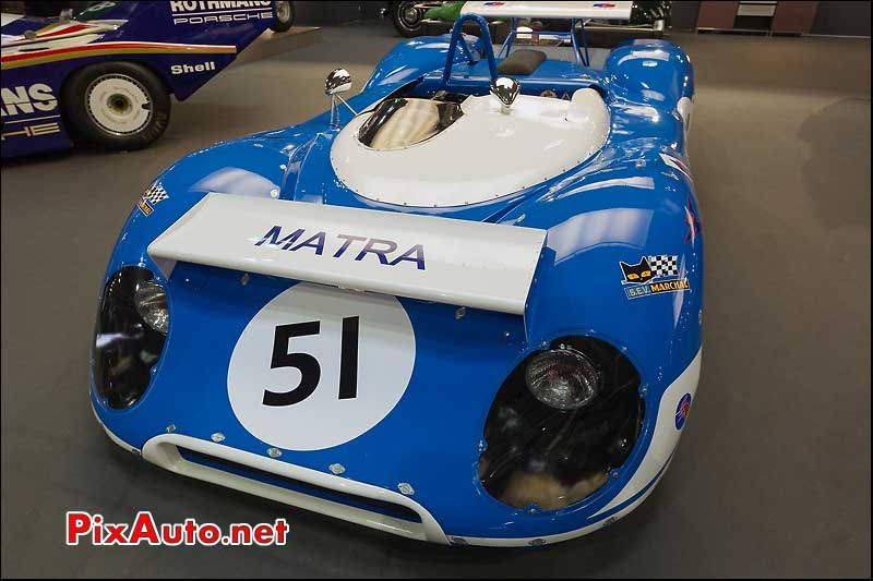 matra-sports MS650, stand hall and hall, retromobile