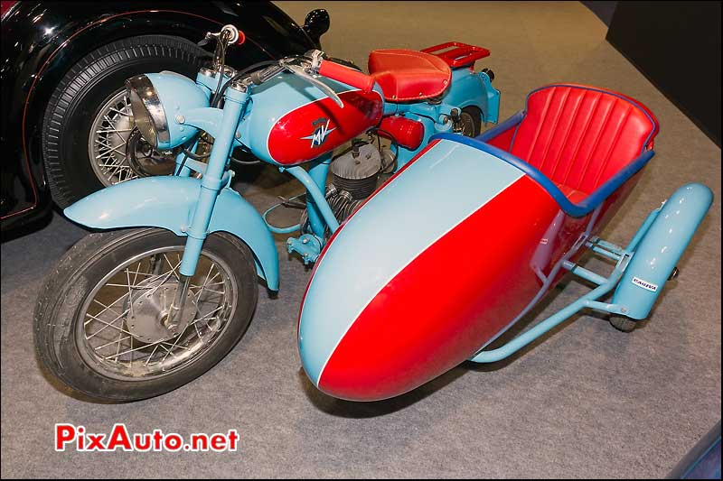 side-car MV Agusta 125 Pullmann, Retromobile Artcurial