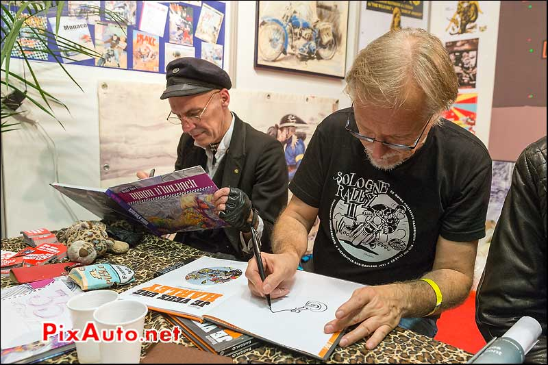 Frank-Margerin et Denis-Sire, Salon Moto Legende