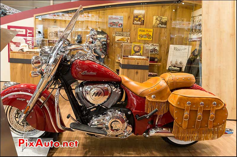 Indian Chief Vintage red, salon-de-la-moto Paris