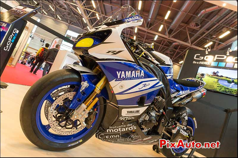 Yamaha R1 GMT94 de David Checa, Salon-de-la-moto Paris