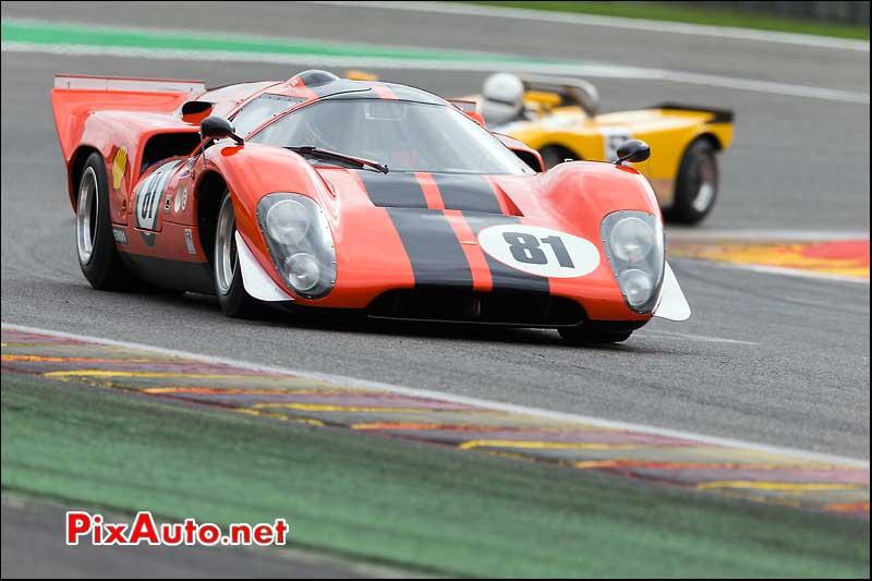 CanAm, Prototype Lola T70 Mk3, circuit Spa-Francorchamps