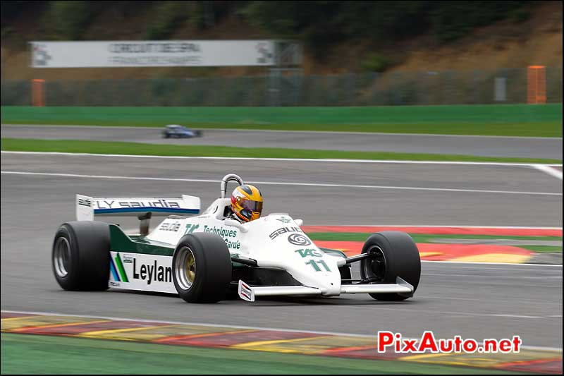 Formule1 Williams FW07/C, circuit Spa-Francorchamps