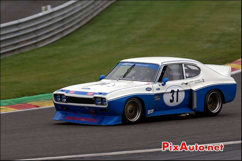 Ford Capri 5000, circuit Spa-Francorchamps