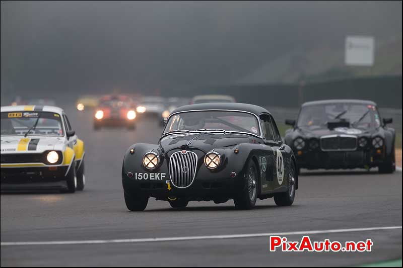 Jaguar XK150S, circuit Spa-Francorchamps