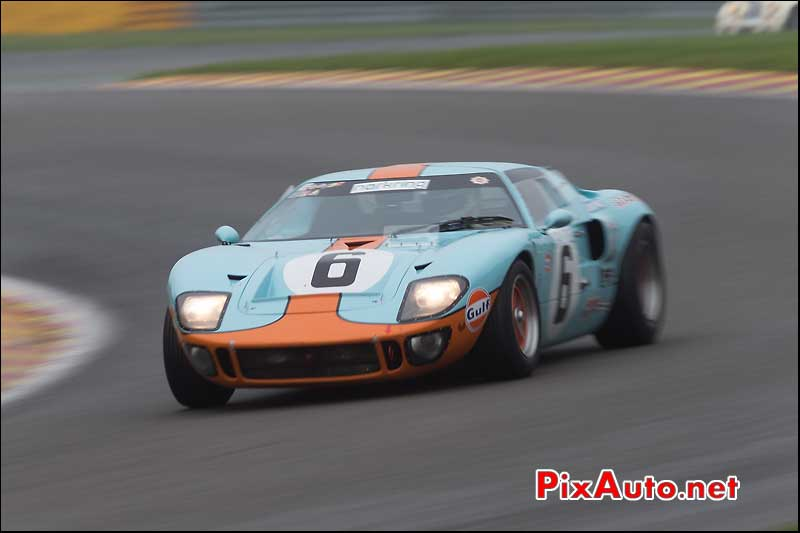 Ford GT40 gulf, circuit Spa-Francorchamps, S6H