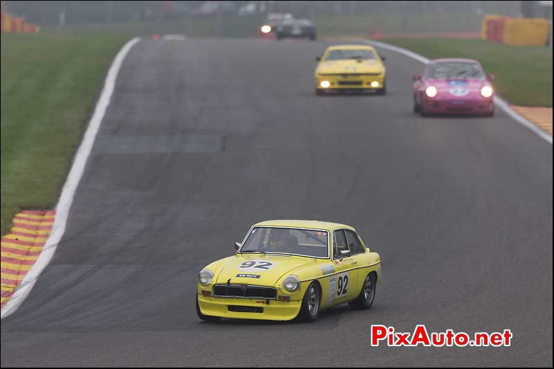 MG-B GT V8, circuit Spa-Francorchamps