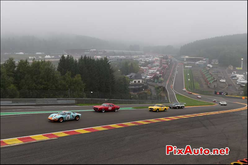 Le raidillon du circuit de Spa-Francorchamps