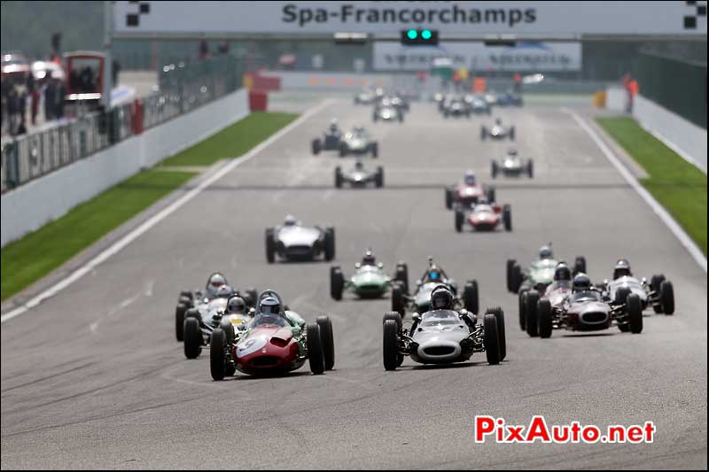 Start race one Historic-Grand-Prix-Cars-Association