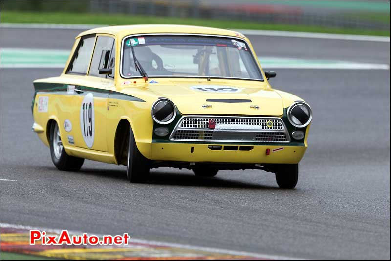 Ford Lotus Cortina numero119, Master Touring Cars, Spa-Francorchamps