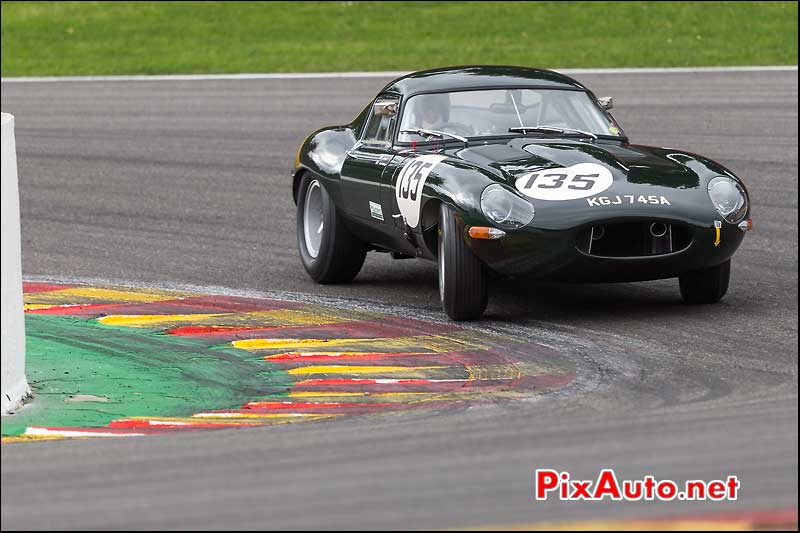 Jaguar e-type numero135, Master Touring Cars, Spa-Francorchamps