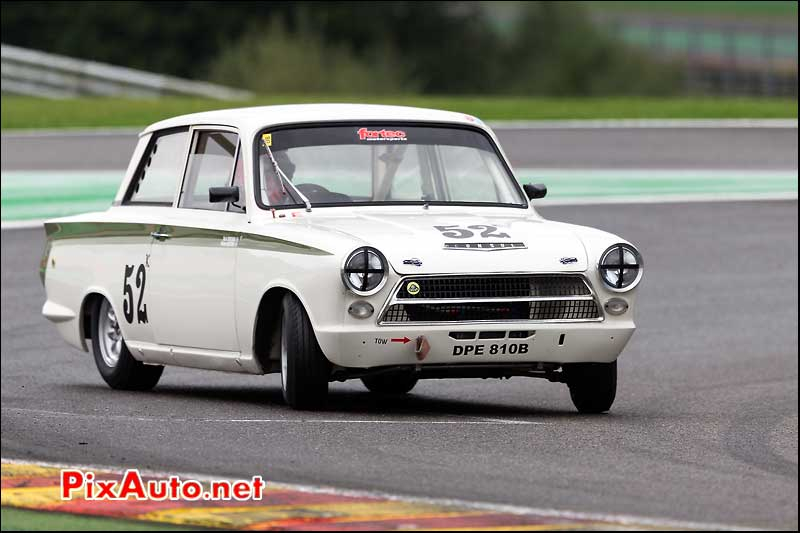 Ford Lotus Cortina numero52, Master Touring Cars, Spa-Francorchamps