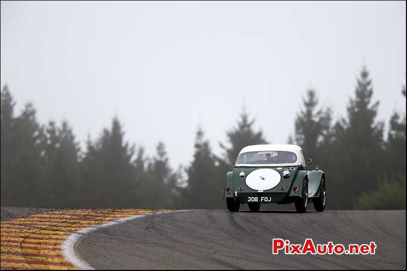 Morgan SuperSport, pre-63, haut raidillon Spa-Francorchamps
