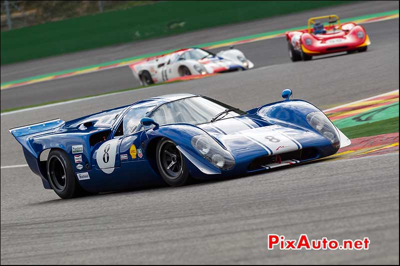 Prototype Lola T70 Mk3, circuit Spa-Francorchamps, S6H