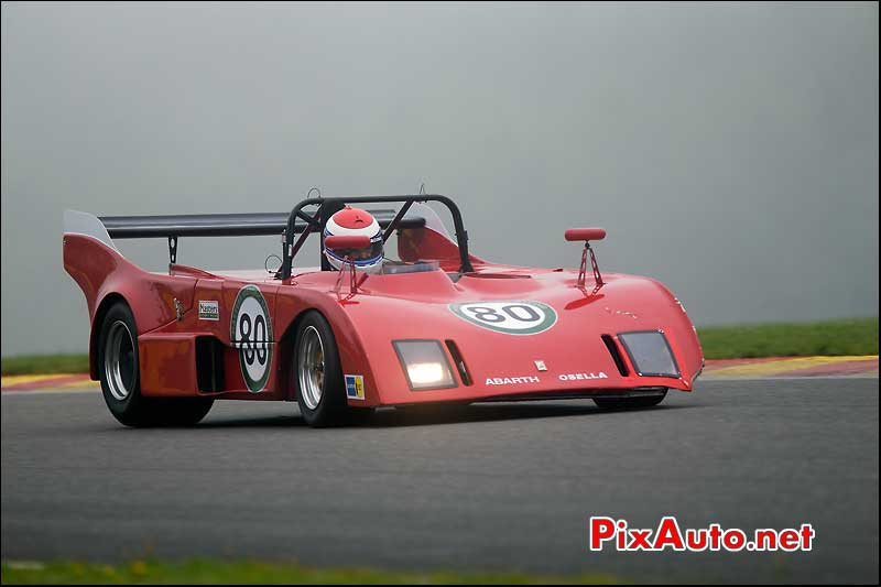 Prototype Abarth Osella PA1, circuit Spa-Francorchamps, S6H