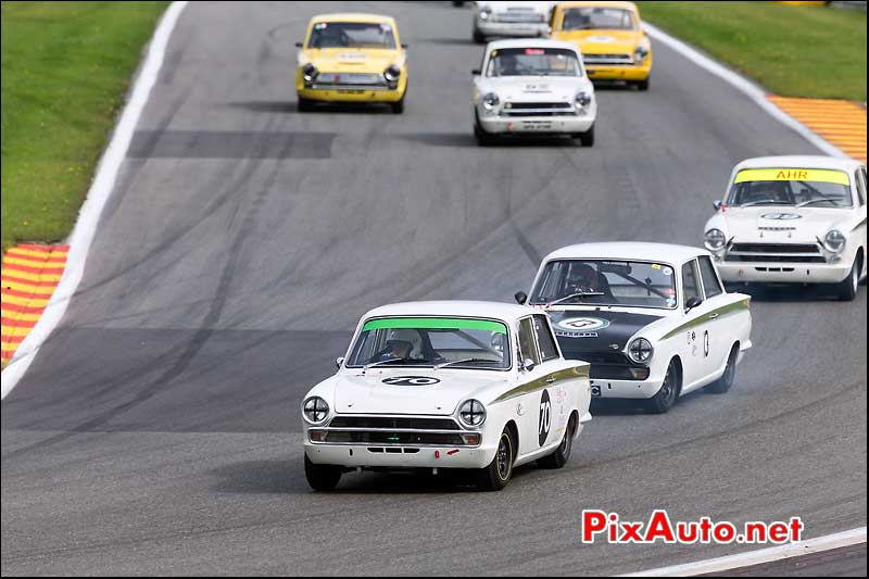 Meute Ford Lotus Cortina, U2TC Spa-Francorchamps