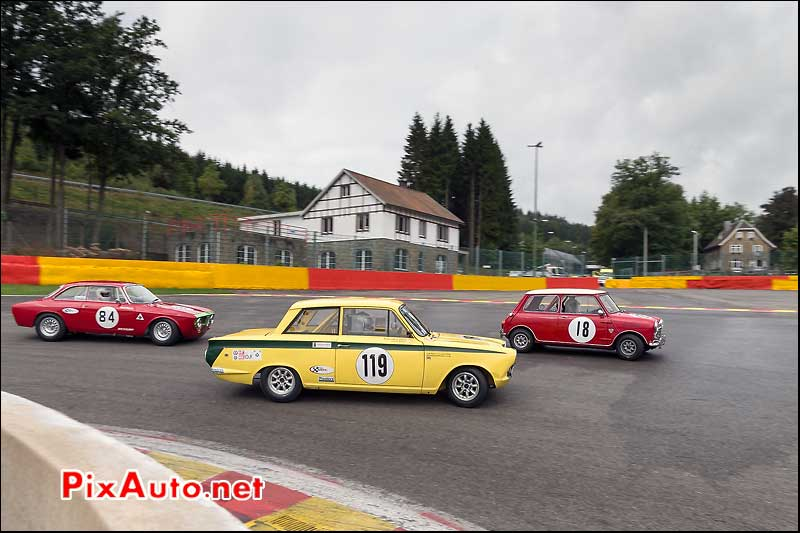 Ford Lotus Cortina numero119, U2TC Spa-Francorchamps