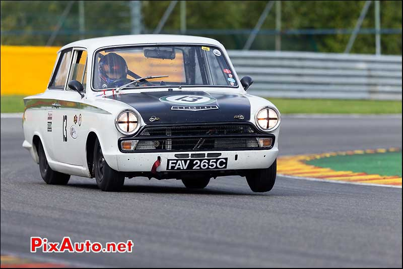 Ford Lotus Cortina numero13, U2TC Spa-Francorchamps