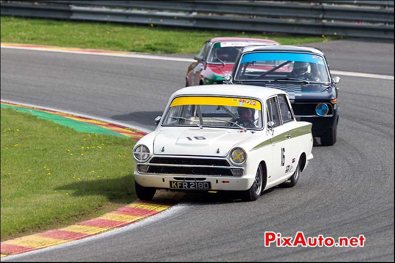 Ford Lotus Cortina numero16, U2TC Spa-Francorchamps