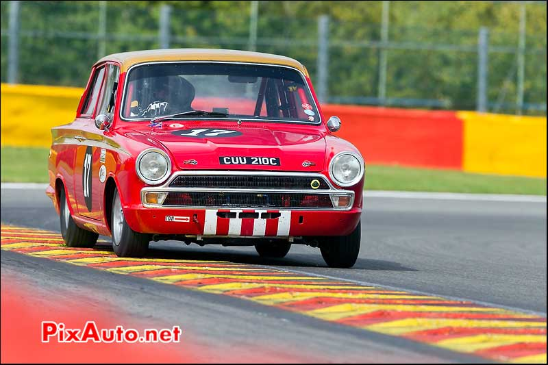 Ford Lotus Cortina numero17, U2TC Spa-Francorchamps
