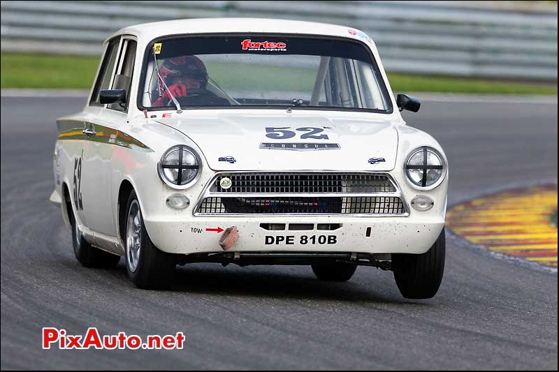 Ford Lotus Cortina numero52, U2TC Spa-Francorchamps