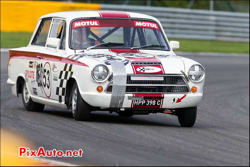 Ford Lotus Cortina numero53, U2TC Spa-Francorchamps