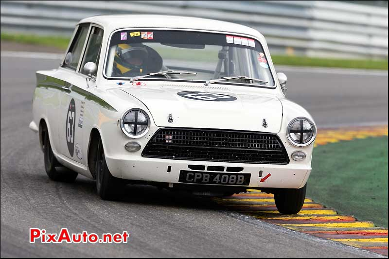 Ford Lotus Cortina numero63, U2TC Spa-Francorchamps