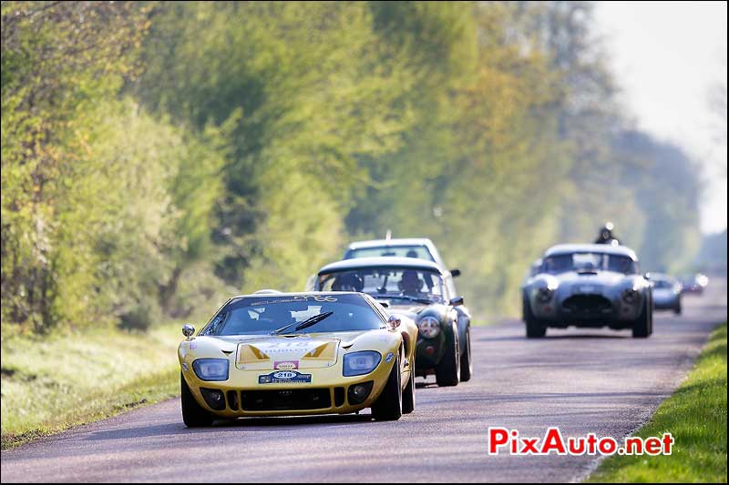 Ford GT40, n218, domaine Chambord, Tour Auto 2013