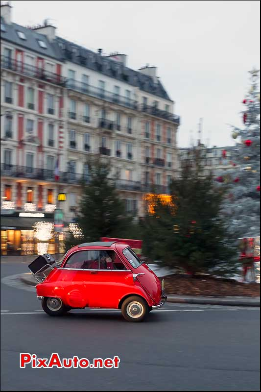 bmw isetta, place leon blum, traversee de paris