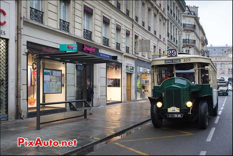 bus a plateforme renault tn6, traversee de paris 2013