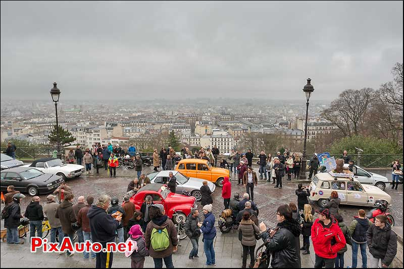 butte montmartre, traversee de paris 2013