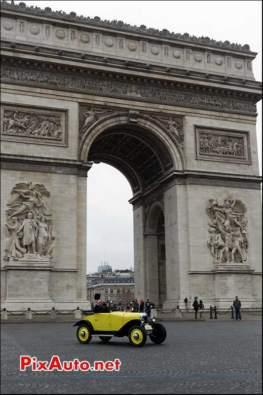 citroen 5hp, arc de triomphe paris