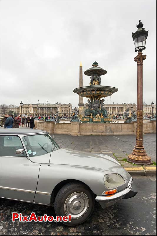 citroen-ds, place de la concorde, traversee de paris