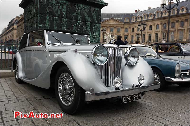 jaguar mark IV drophead, colonne vendome